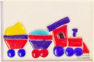 140917-4 6x4 Red n blue train - framed (640x467)