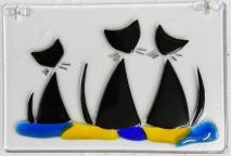 170804-5 6x4 Three black cats -a